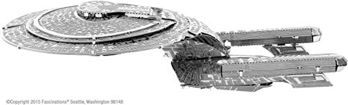 Fascinations Metal Earth MMS281 - 502672, Star Trek NCC 1701-D USS Enterprise, Konstruktionsspielzeug, 2 Metallplatinen, ab 14 Jahren