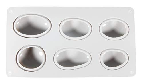Rayher 36102000 Silikon-Gießform Steine, 14,5x26 cm, Tiefe 3,5 cm, 6 verschiedene Steinformen, Form befüllbar mit Kreativ-Beton, Schmuck-Beton, Raysin-Gießpulver, Seife, Wachs
