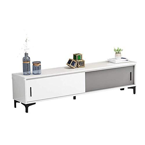 JINKEBIN Estante de entretenimiento centro de medios soporte de TV   consola de almacenamiento soporte de TV marco de madera (color: gris, tamaño: 150 x 35 x 40 cm) cocina