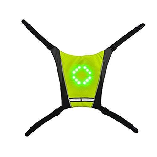 Maifa Chaleco de Seguridad LED, Chaleco Reflectante para Bicicleta con señales de Giro y Control Remoto para Correr, indicador de dirección de Bicicleta