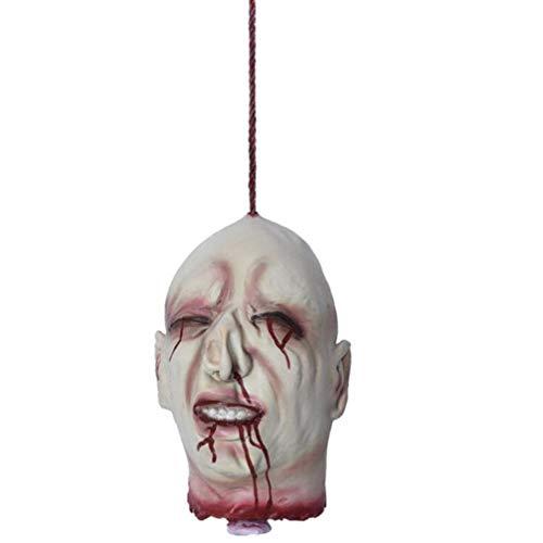Amosfun decoración sangrienta de la casa encantada de la Cabeza Colgante de la Cabeza Cortada sangrienta de Halloween