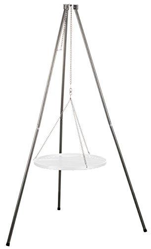 Schwenkgrill Dreibein Grillgestell inkl. Ketten Höhenverstellbar Höhe: 1,40 m Edelstahl - Ohne Grillrost! - von Brandsseller