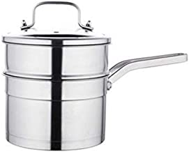 ZYSWP Stainless Steel Small Steamer Single and Double Layer Baby Food Supplement Uncoated Pot Small Household Steamer