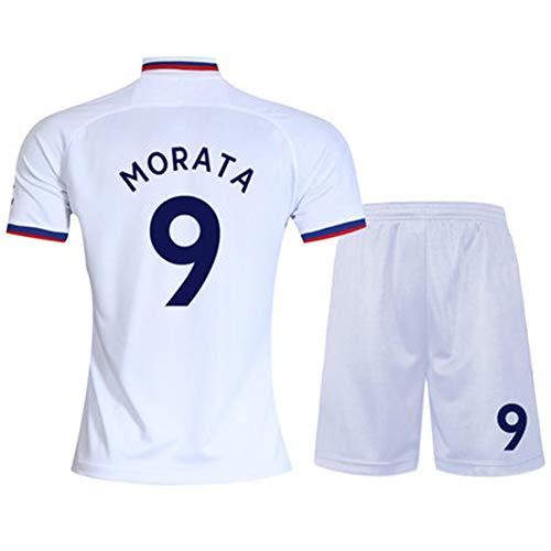 19-20 Chelsea jersey nr. 10 Azar 7 Kanter No. 9 Morata huis met korte mouwen voetbaluniform pak mannelijk (one size -2XL)