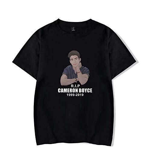 Cameron Boyce Camiseta Cameron Boyce Camisa de Manga Corta con Estampado 2D para fanáticos Mujeres/Hombres Estampado gráfico Ocio Manga Corta Pantalones Cortos de Deporte al Aire Libre