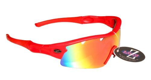 RayZor lichtgewicht vissen sport Wrap zonnebril Anti Glare professionele bril voor mannen en vrouwen - UV400 oogbescherming met onbreekbare frames en kat 3 Anti Glare lenzen