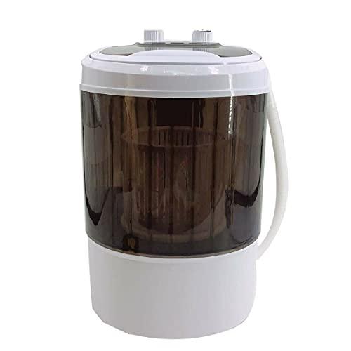 TABODD 300W Mini Waschmaschine und Trockner, 4,5 kg Mobile Waschmaschinen mit Schleudertrockner Elektrische Campingwaschmaschine Reisewaschmaschine für Kleine Kleidung - Braun
