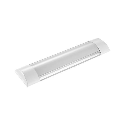 SJHAI Lámparas de purificación LED de 30cm 10W Luz blanca cálida Luz de techo LED a prueba de humedad 1200LM Tubo de luz IP65 para baño sala de estar cocina garaje almacén taller [clase energética A +
