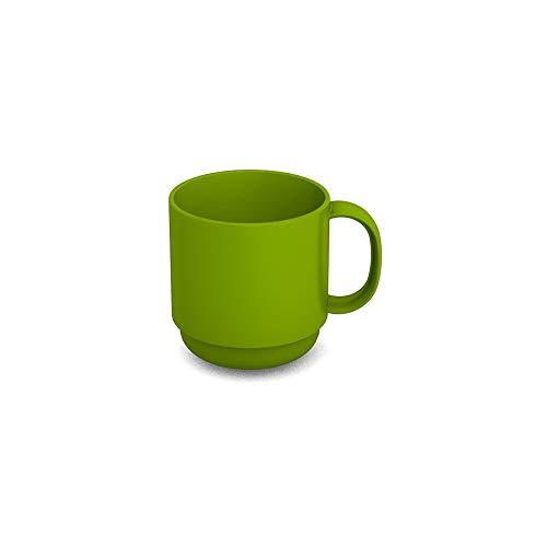 Ornamin Becher 220 ml grün (Modell 508) / Mehrweg-Becher Kunststoff, Kaffeebecher, Henkelbecher