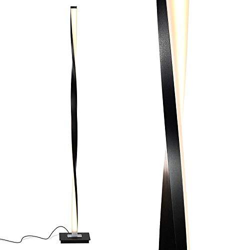 YINGGEXU Lámpara de pie LED Lámpara de pie Luz de pie de poste de pie Compatible con salas de estar Moderno Compatible con dormitorios Oficina Brillante Regulable Contemporáneo 48 pulgadas