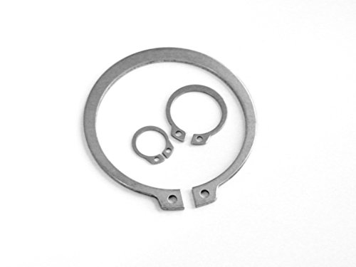 Lot de 10 circlips extérieurs en acier inoxydable 316 (A4) D1400 (DIN 471) 8 mm