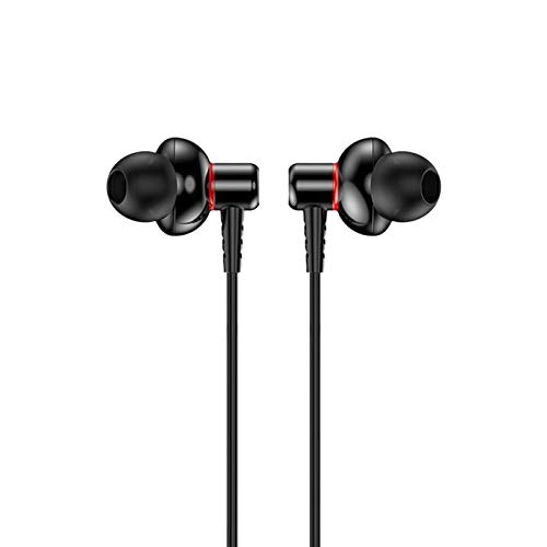 N / A Earphone Headset Metal Wired Earphone, for iPhone, iPod, IPad, MP3 Players, Samsung Galaxy Etc (Color : Black)