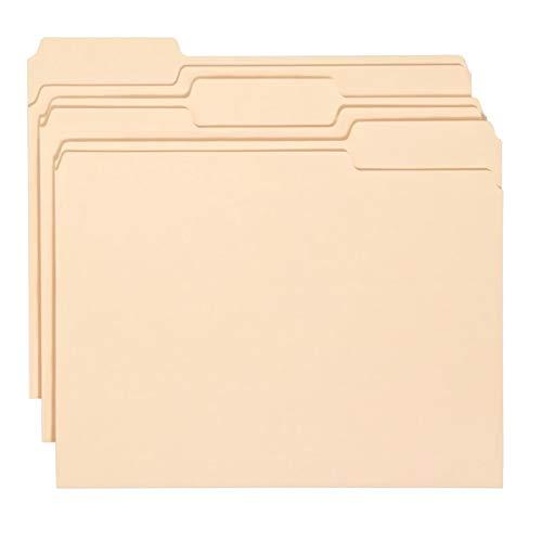 Office Depot Economy File Folders, 1/3 Cut, Letter Size, Manila, Pack of 150, 172816