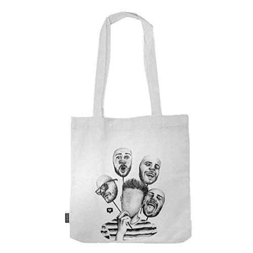 FUKO - Bolsa de tela para la Compra - Tote Bag Reutilizable y Lavable de Algodón 100% Orgánico
