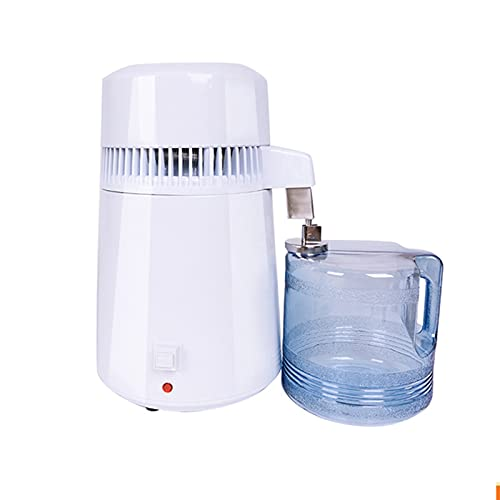 NMVB Filtro de purificador eléctrico de destilación eléctrica de Acero Inoxidable de 4 l de Acero Inoxidable 4L con Botella de colección para Casas de oficinas