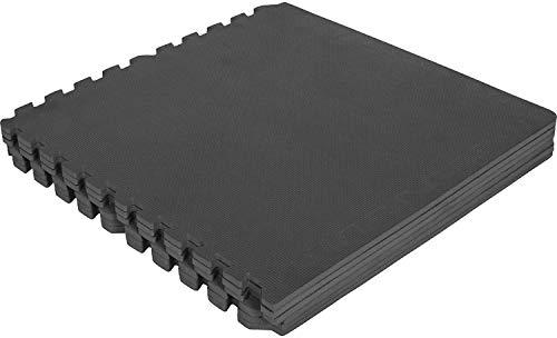 GORILLA SPORTS Schutzmatten-Set mit Endstücken 6 Puzzle-/Unterleg-Matten 62,5 x 60,5 x 1,2 cm, Schwarz
