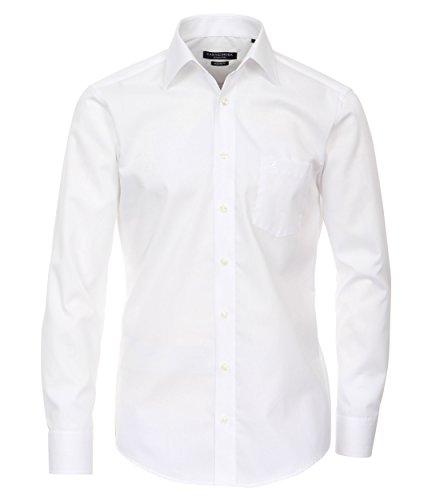 CASAMODA Langarm Modern Fit Hemd Weiss 100% Baumwolle Kentkragen TAILLIERT 41