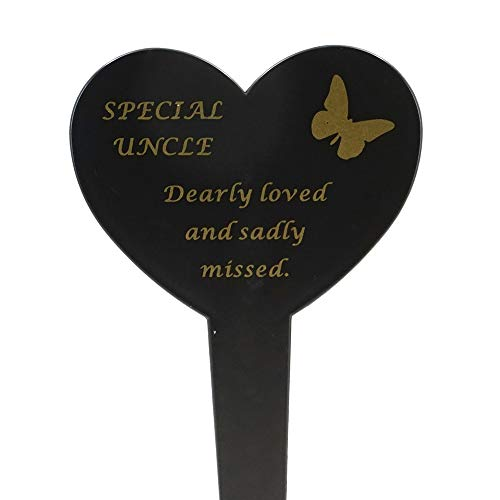 Special Uncle Memorial Heart Remembrance Verse Ground Stake