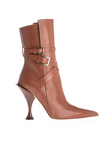 BURBERRY Luxury Fashion Damen 8020112 Braun Leder Stiefeletten | Herbst Winter 19