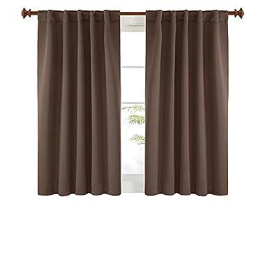 Deconovo Short Blackout Curtains for Small Windows,...