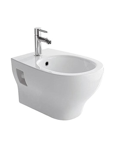 Sanitari bagno bidet sospeso, Grace Globo, ceramica bianca
