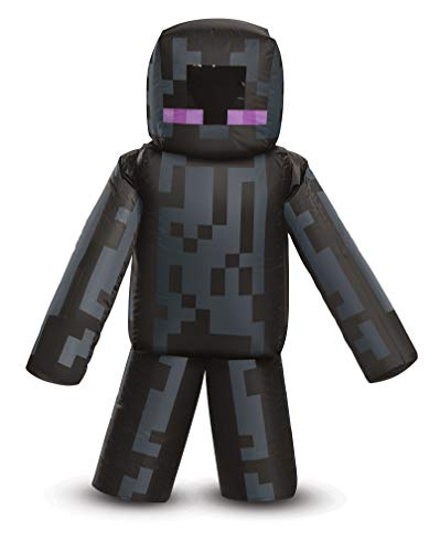 Enderman Costume, Inflatable Minecraft Costumes for Kids, Child Size Fan Operated Expandable Blow Up Suit Black