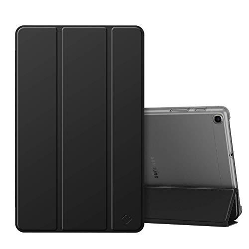 Fintie Hülle für Samsung Galaxy Tab A 10,1 SM-T510/T515 2019 - Superdünn Schutzhülle mit durchsichtiger Rückseite Abdeckung Cover für Samsung Galaxy Tab A 10.1 Zoll 2019 Tablet, Schwarz