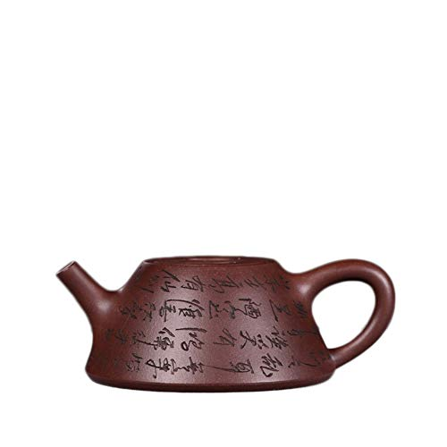 YYFUS Tea Maker Sand Pot Hand-lettering Yixing Teapot Covered With Cow Cover Stone Scoop Pot Kung Fu Tea (Color : Purple mud)