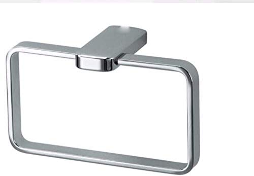 LHQ-HQ Estante de baño estantes de baño estantes estantes estante colgador anillo cuadrado hardware colgante anillo cromado