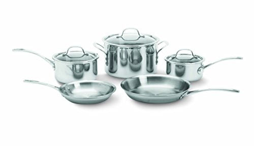 Calphalon 1767952 Tri-Ply Stainless Steel 8-Piece Cookware Set, Silver