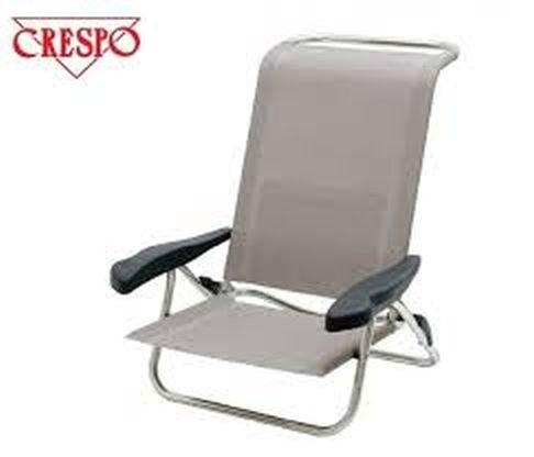CRESPO chaise pliante-chaise tête de transport - 2,4 kg, léger et solide-charge maximale : 120 kg - 6 niveaux dossier pliable en surface-sable-avec repose-tête réglable-innovation fabriqué en allemagne-holly ® produits ® sTABIELO-disponible également en flieder. kopfkissenFarben disponibles-sable/bleu-bleu/gris-crytal silver-vienna-holly sunshade melange -