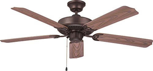 Craftmade WOD52ABZ5X Ceiling Fan with Blades Included, 52'