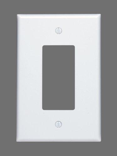 Leviton, White 88601 1-Gang Decora/GFCI, Wallplate, Oversized, Thermoset, Device Mount, 1-Pack