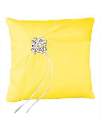 Ivy Lane Design Garbo Collection Wedding Ring Pillow, Lemon Yellow