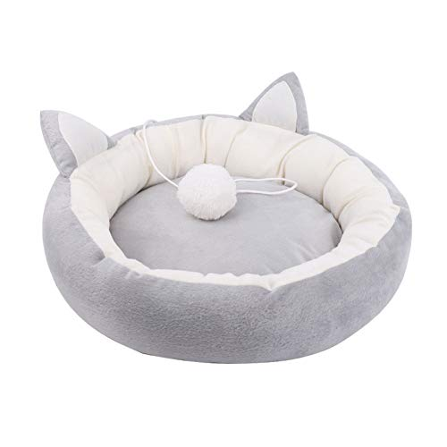 DKNBI Dog Bed Pet Cat Bed Ears Nest Soft Warm Washable Round Dog Cat Cushion Home Mat Cat Beds Sleeping House Pet Supplies Products