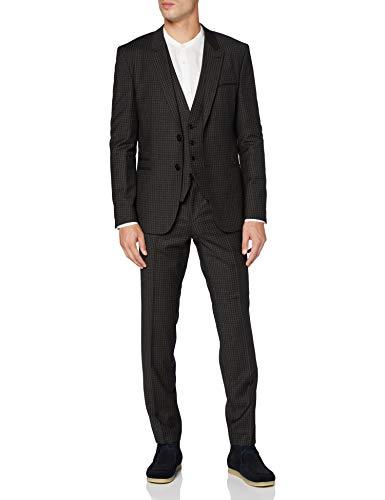 HUGO Herren Arti/Hesten204V1 Suit - Dress Set, Dark Brown (205), 102