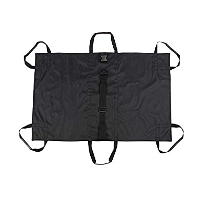 MiMu Large Animal Stretcher - 2.5 x 4 Ft Soft Nylon Pet Gurney Stretcher Veterinary Patient Carrier Transporter in Black