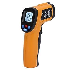 Termometro a infrarossi GM550, pistola termica digitale senza contatto con display LCD Puntamento a infrarossi ad alta precisione e ampio raggio Non per l'uomo