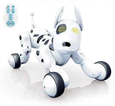 RCTecnic Roboterhund für Kinder Buddy Pet Roboter Ferngesteuert Hund Interaktiv, Singt, Tanzen und Verfügt über Fernbedienung, Augen mit LED, mit Akku und USB-Ladegerät, Roboter Kinder Spielzeug Hund