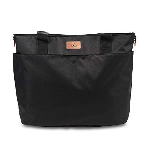 JuJuBe Encore Travel Diaper Tote Bag   Classic Collection   Lightweight, Everyday with Diaper Changing Pad   Black Rose, One Size