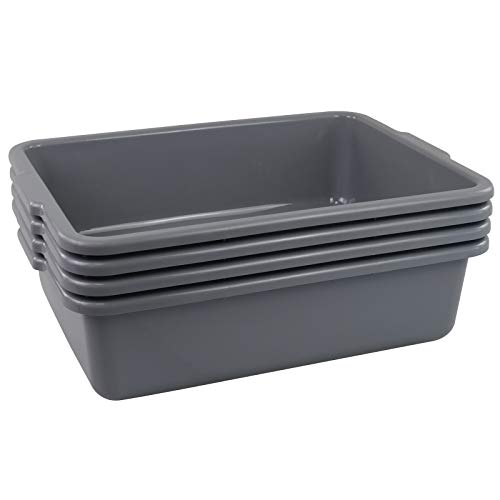 Cand Grey Commercial Bus Tubs 22 L Plastic Bus BoxUtility Box 4 Packs