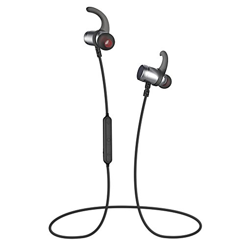 Bluetooth Earphones, Wireless Bluetooth 4.1 In-ear Stereo Headphones Earbuds with Magnetic Automatic Turning On/Off for IOS and Android Cellphones (Black)