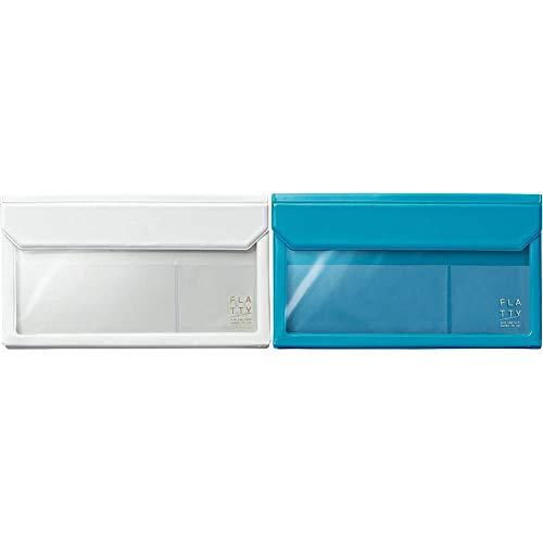 【セット買い】キングジム バッグインバッグ FLATTY 封筒サイズ 白 5362シロ & バッグインバッグ FLATTY 封筒サイズ 水色 5362ミス