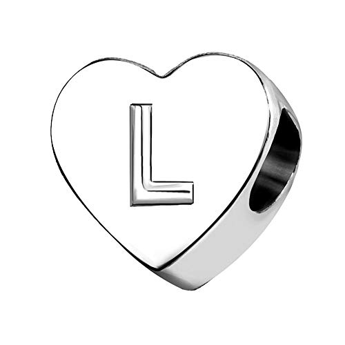 KunBead Jewelry Letter L Initial Charms I Love You Heart 40 Dad Mothers Day Bangle Charms for Women Bracelets