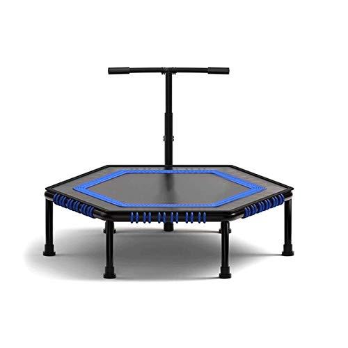 Sdesign Indoor Mini Fitness Trampoline, Safe Silent Fácil instalación Ejercicio Interior Trampolín para Adultos Niños (Size : 50 Inches)