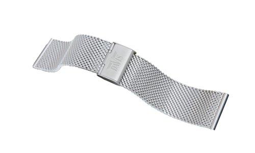 Davis - 22mm Cinturino Orologio Mesh Maglia Milanese Acciaio Regolabile