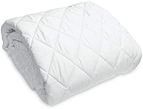 Bedding King Polyester Waterproof Double Bed Mattress Protector(White, King Size)