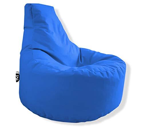 PH Sillón gamer en 2 tamaños diferentes y 25 XL – 75 cm de diámetro, 30 cm de altura del asiento, 80 cm de altura, color azul real