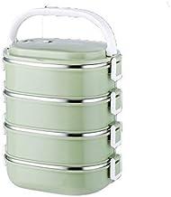 GPWDSN Roestvrijstalen lunchbox, slotcontainer en warmte/koud geïsoleerde zak, lekvrij stapelbare bento lunchbox voor volw...