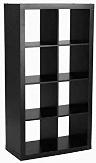 Modern Better Homes and Gardens 8-Cube Organizer, Solid Black + Free Home Decors